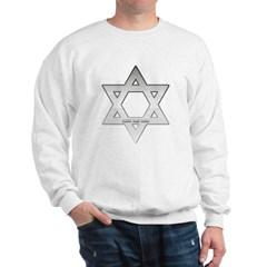 Silver Star of David Sweatshirt