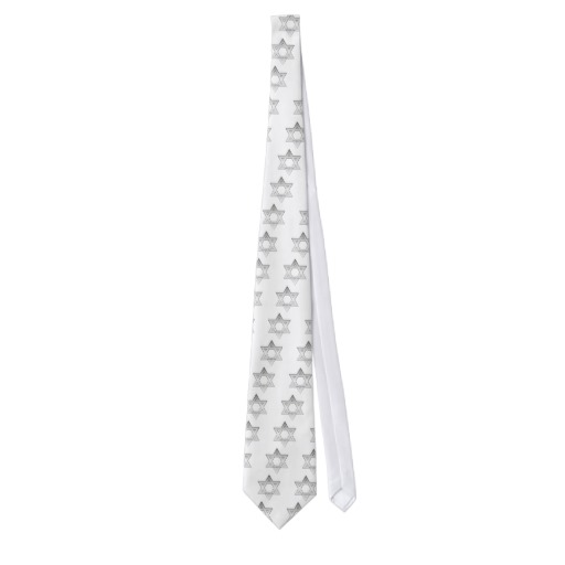 Silver Star of David Tie