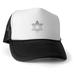 Silver Star of David Trucker Hat