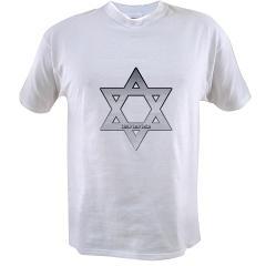 Silver Star of David Value T-shirt
