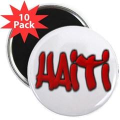 "Haiti Graffiti 2.25"" Magnet (10 pack)"