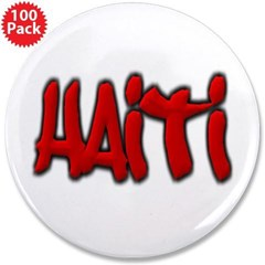"Haiti Graffiti 3.5"" Button (100 pack)"