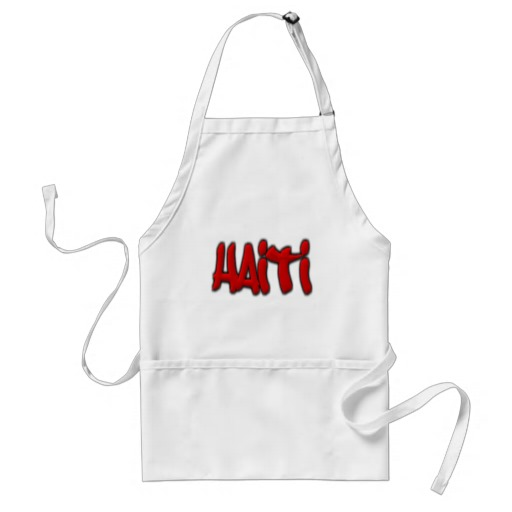 Haiti Graffiti Adult Apron