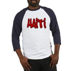Haiti Graffiti Baseball Jersey T-Shirt