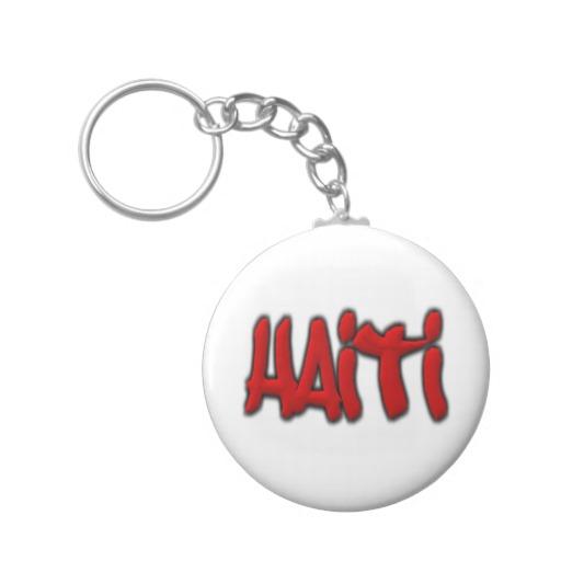 Haiti Graffiti Basic Button Keychain