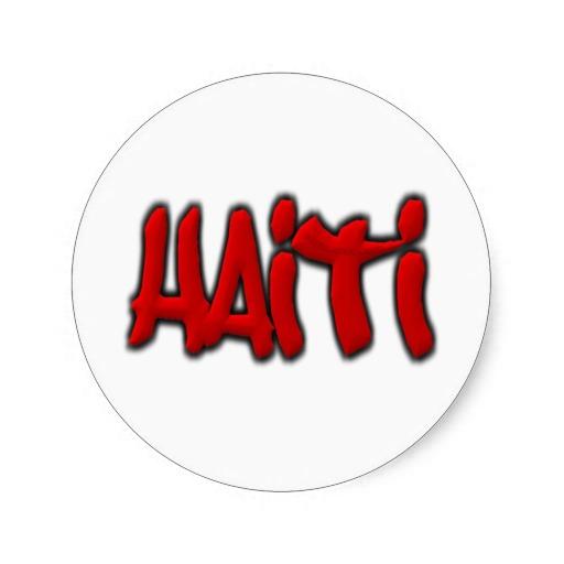 Haiti Graffiti Classic Round Sticker