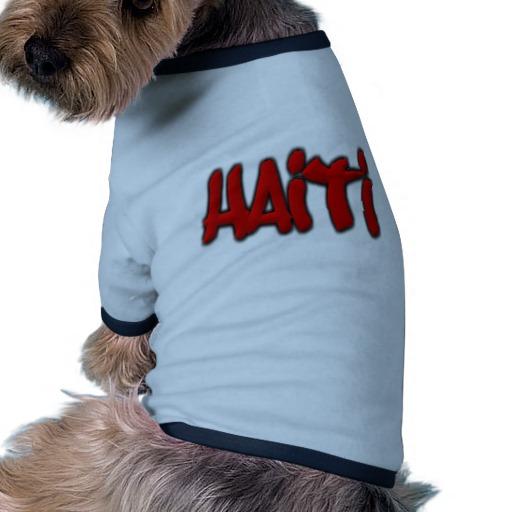 Haiti Graffiti Doggie Ringer T-Shirt