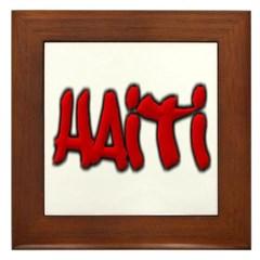 Haiti Graffiti Framed Tile
