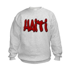 Haiti Graffiti Kids Crewneck Sweatshirt by Hanes