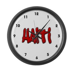 Haiti Graffiti Large Wall Clock