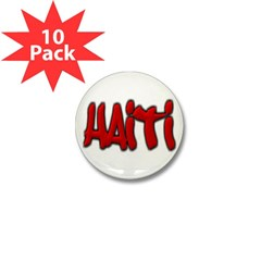 Haiti Graffiti Mini Button (10 pack)