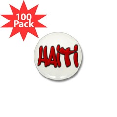 Haiti Graffiti Mini Button (100 pack)