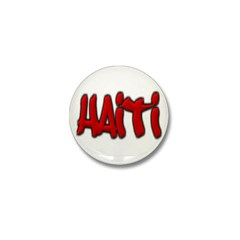 Haiti Graffiti Mini Button