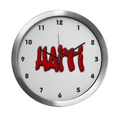 Haiti Graffiti Modern Wall Clock