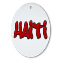 Haiti Graffiti Ornament (Oval)