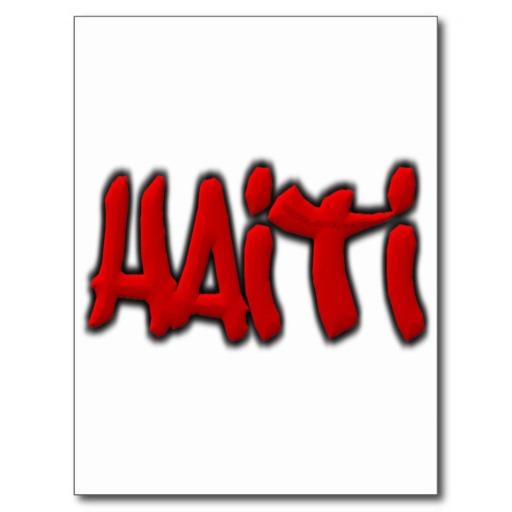 Haiti Graffiti Postcard