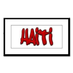 Haiti Graffiti Small Framed Print