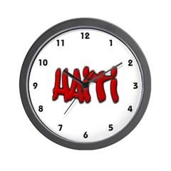 Haiti Graffiti Wall Clock