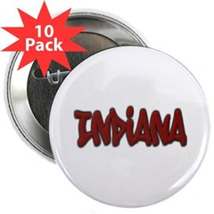 "Indiana Graffiti 2.25"" Button (10 pack)"