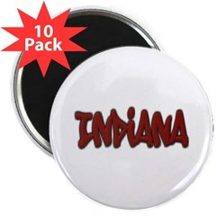 "Indiana Graffiti 2.25"" Magnet (10 pack)"