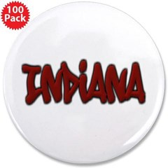 "Indiana Graffiti 3.5"" Button (100 pack)"