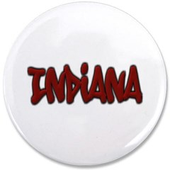 "Indiana Graffiti 3.5"" Button"