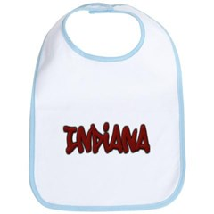 Indiana Graffiti Baby Bib