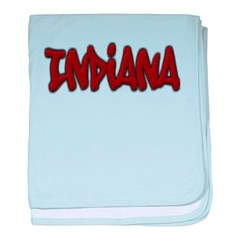 Indiana Graffiti Baby Blanket