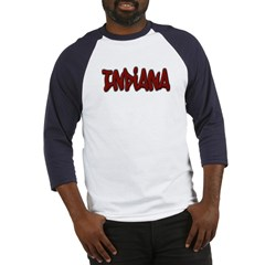 Indiana Graffiti Baseball Jersey T-Shirt