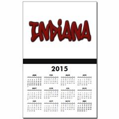 Indiana Graffiti Calendar Print