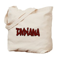 Indiana Graffiti Canvas Tote Bag