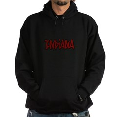Indiana Graffiti Dark Hooded Sweatshirt