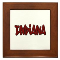 Indiana Graffiti Framed Tile