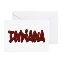 Indiana Graffiti Greeting Card