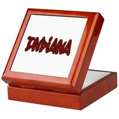Indiana Graffiti Keepsake Box