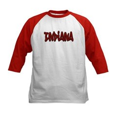 Indiana Graffiti Kids Baseball Jersey T-Shirt