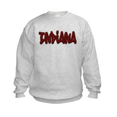 Indiana Graffiti Kids Crewneck Sweatshirt by Hanes