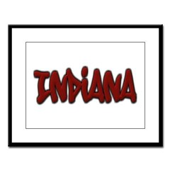 Indiana Graffiti Large Framed Print