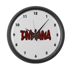 Indiana Graffiti Large Wall Clock