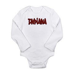Indiana Graffiti Long Sleeve Infant Bodysuit