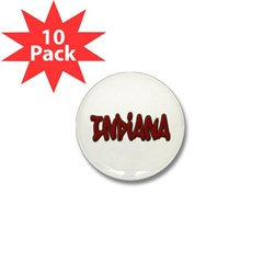 Indiana Graffiti Mini Button (10 pack)
