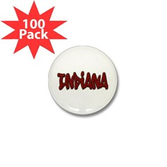 Indiana Graffiti Mini Button (100 pack)