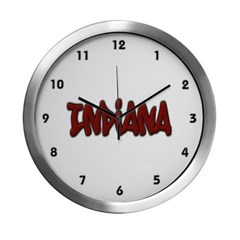 Indiana Graffiti Modern Wall Clock