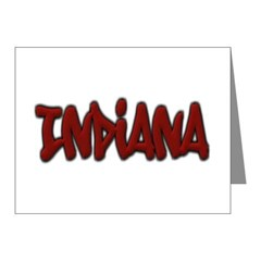 Indiana Graffiti Note Cards (Pk of 20)