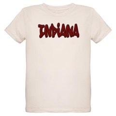 Indiana Graffiti Organic Kids T-Shirt