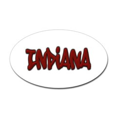 Indiana Graffiti Oval Decal