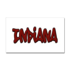 Indiana Graffiti Rectangle Decal