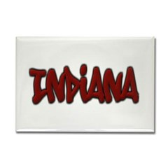 Indiana Graffiti Rectangle Magnet