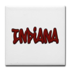 Indiana Graffiti Tile Coaster