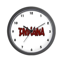 Indiana Graffiti Wall Clock